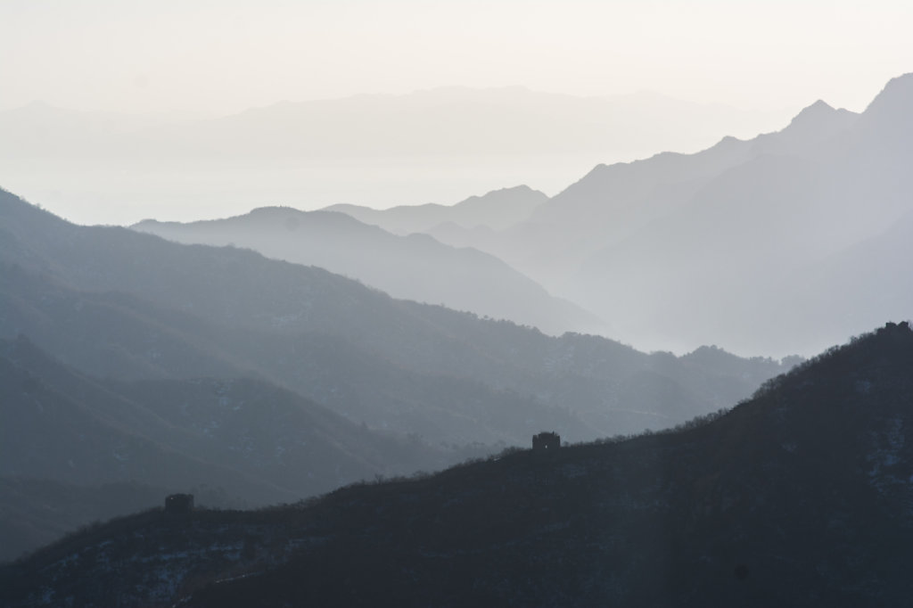 the mountains at the great wall of china
