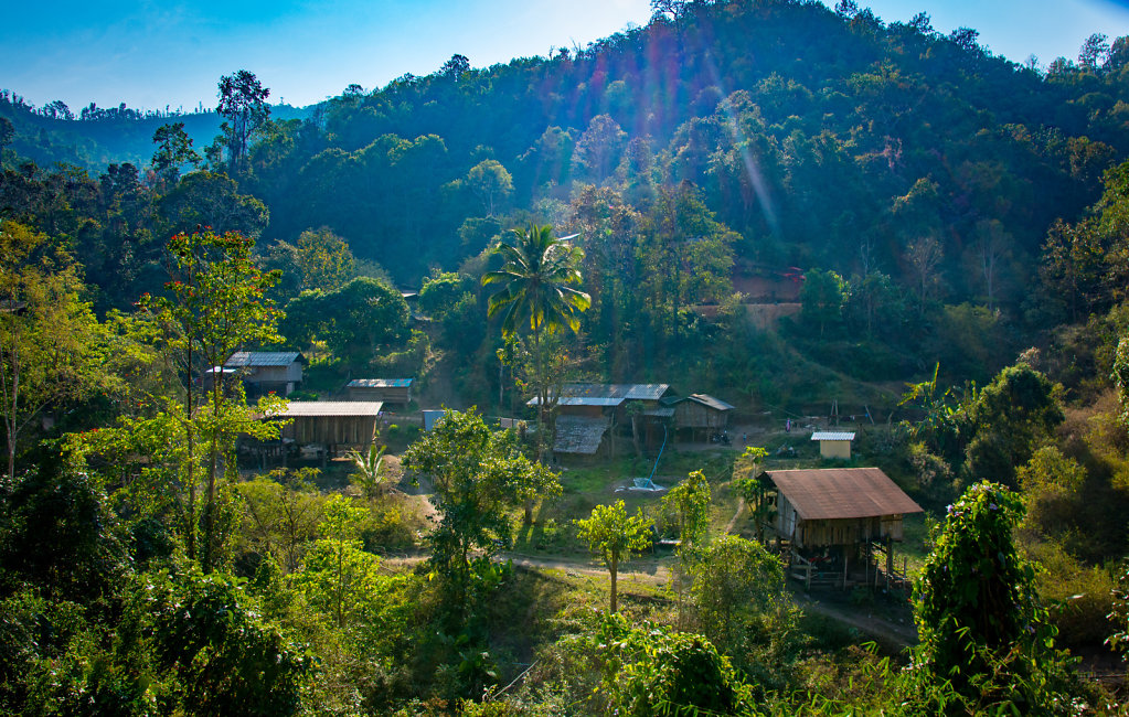 a village in the mountains of northern thailand