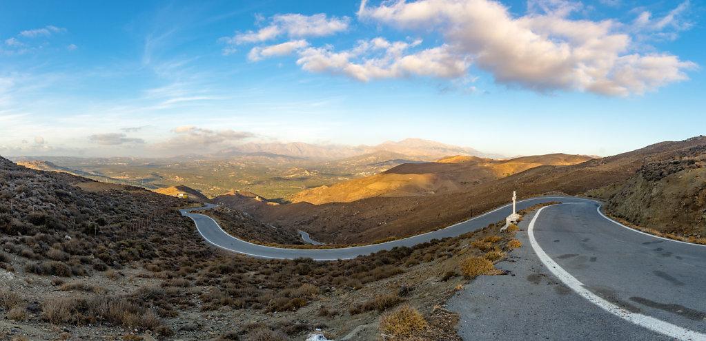 a view in the mountains of creta, greece